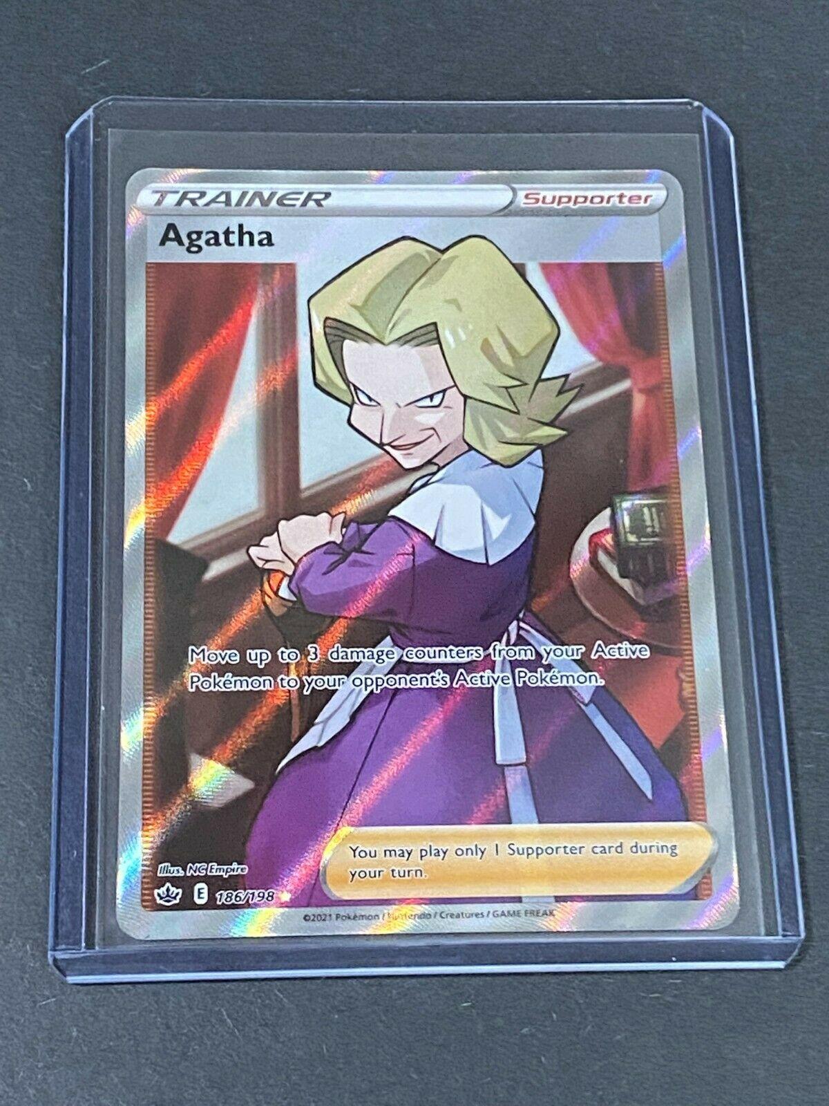 Agatha 186/198 Full Art Ultra Rare Trainer Pokémon TCG Chilling Reign