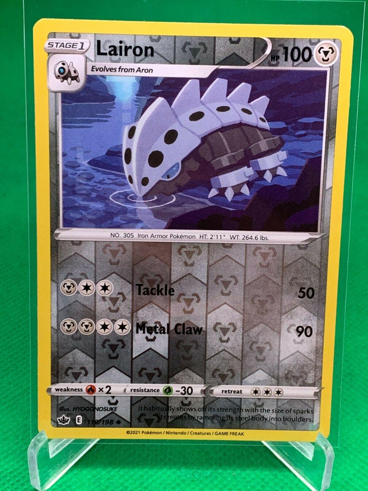 Pokemon - Lairon - Chilling Reign - 110/198 - Reverse Holo