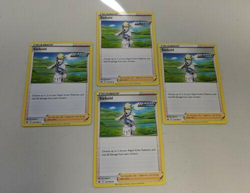 Pokemon Chilling Reign Siebold Play Set - 153/198 NM
