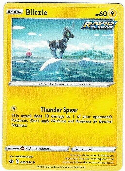 Blitzle- Rapid Strike- Pokemon Card (050/198) Chilling Reign