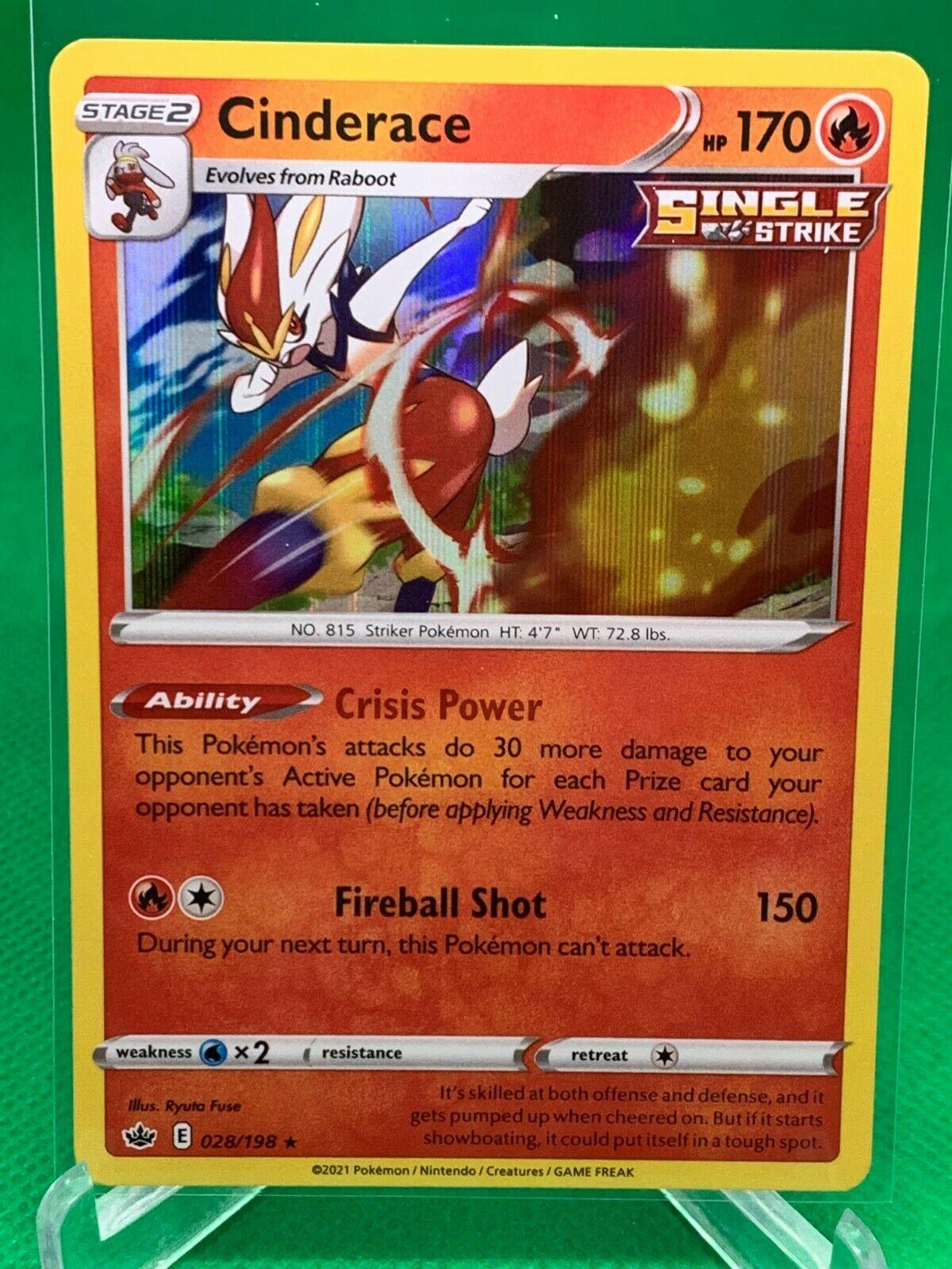 Pokemon - Cinderace -  Chilling Reign - 028/198 - Holo Rare