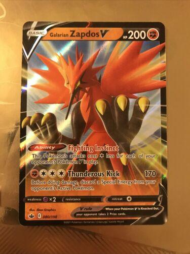 Pokemon - Galarian Zapdos V - Chilling Reign - 080/198 - Ultra Rare