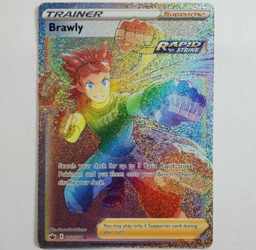 Pokemon - Brawly - Rare Rainbow Full Art Trainer - Chilling Reign 212/198 - NM/M