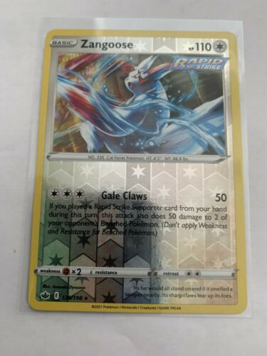Pokemon Card Chilling Reign Zangoose - 120/198 - Rare Reverse Holo NM/ Mint