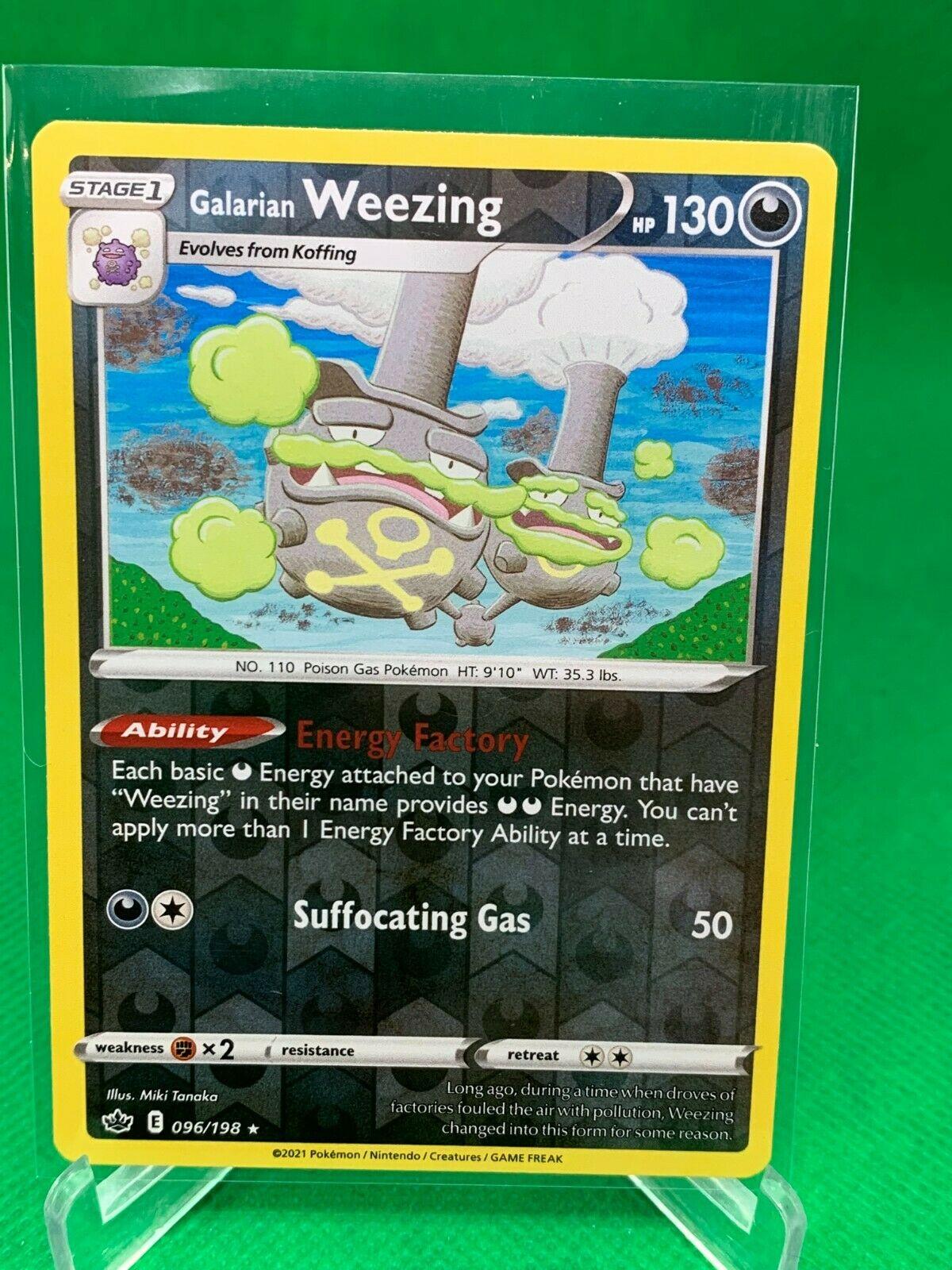 Pokemon - Galarian Weezing - Chilling Reign - 096/198 - Reverse Holo Rare - Image 1