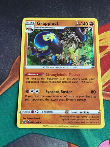 Pokémon Sword & Shield Chilling Reign Grapploct - 092/198 Holo