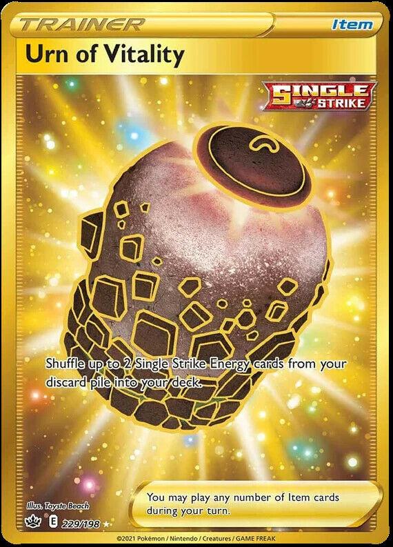 Urn of Vitality 229/198 SWSH Chilling Reign Full Art Pokemon Card MINT