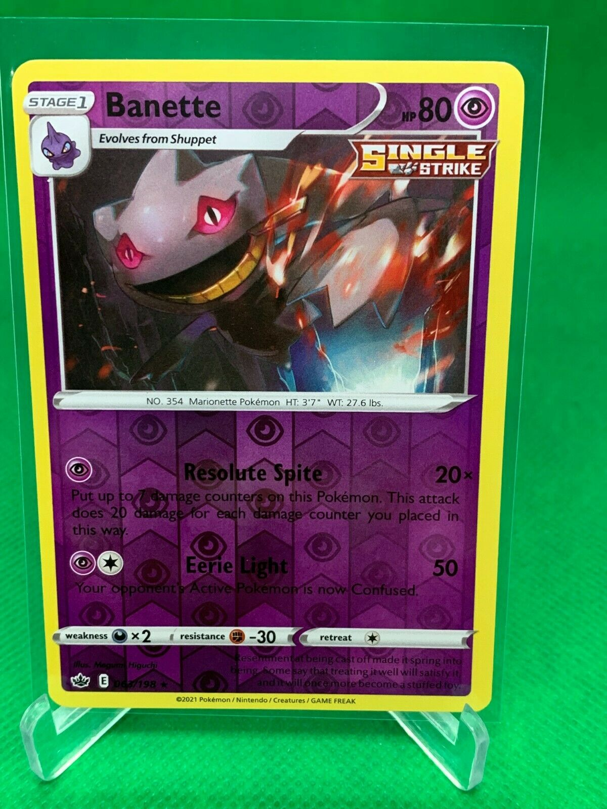 Pokemon - Banette - Chilling Reign - 063/198 - Reverse Holo Rare