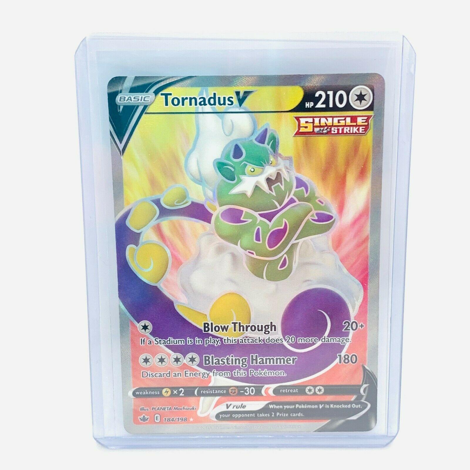 Pokémon Chilling Reign Full Art Ultra Rare Tornadus V 184/198 NM Fresh Card