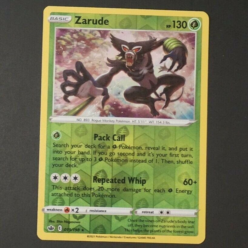 Zarude 019/198 Reverse Holo Chilling Reign NM Rare