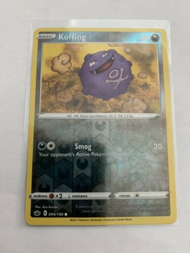 Pokemon Card Chilling Reign Koffing - 094/198 - Common Reverse Holo NM/ Mint