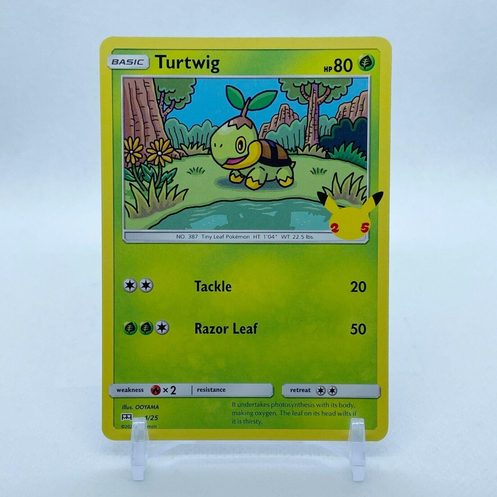 Turtwig - 4/25 Mcdonald's Promo 25th Anniversary Starter Pokemon - NM/MINT