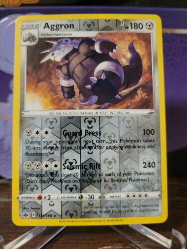 Pokemon -  Aggron - 111/198 - Reverse Holo Rare - Chilling Reign - NM/M