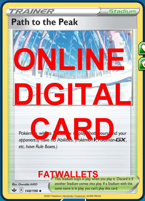 4X Path to the Peak 148/198 Chilling Reign Pokemon Online Digital Card