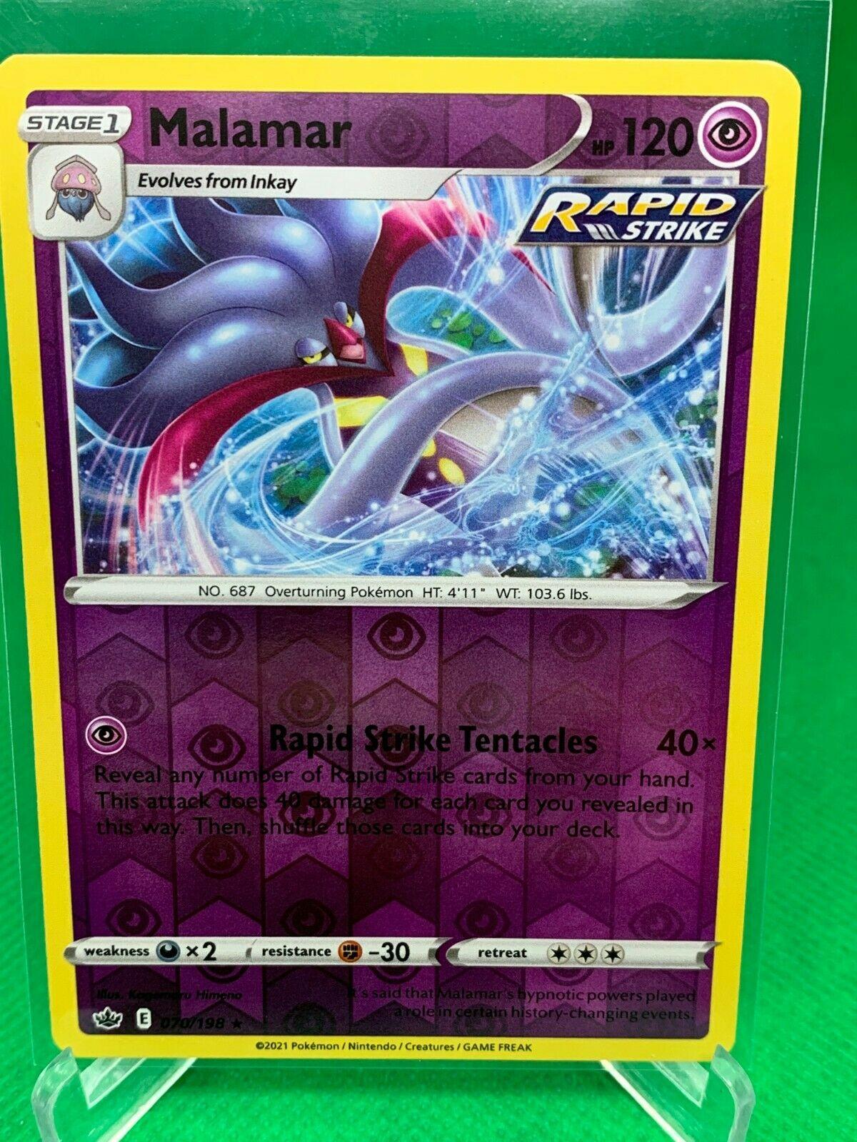 Pokemon - Malamar - Chilling Reign - 070/198 - Reverse Holo Rare