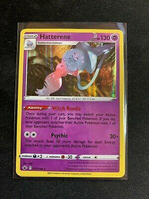 073/198 Hatterene | Rare Holo Pokemon Trading Card NM Chilling Reign