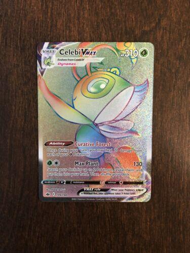 Pokemon Celebi VMAX 199/198 Secret Rainbow Rare Chilling Reign NEW IN-HAND