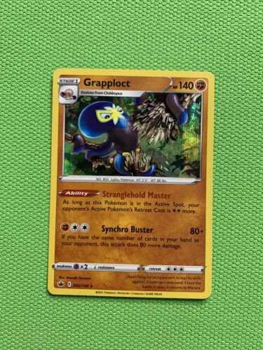 Pokemon Chilling Reign 092/198 Grapploct Holo Rare