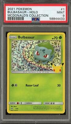 Pokemon Mcdonald's Collection Promo 1/25 Bulbasaur Holo PSA 9 Mint - 25th Anniv.