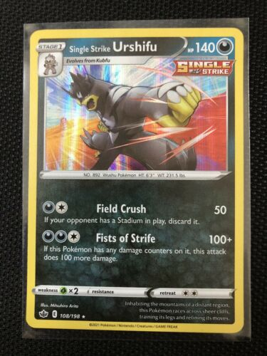 Pokemon - Single Strike Urshifu - Chilling Reign - 108/198 - Holo Rare