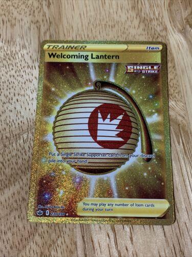 Pokémon TCG: Chilling Reign Welcoming Lantern 230/198 Gold Secret Rare