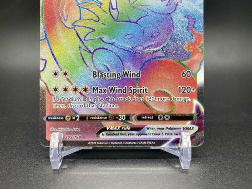 Tornadus VMAX Rainbow Rare 209/198 Pokemon TCG Chilling Reign Near Mint Fresh - Image 3