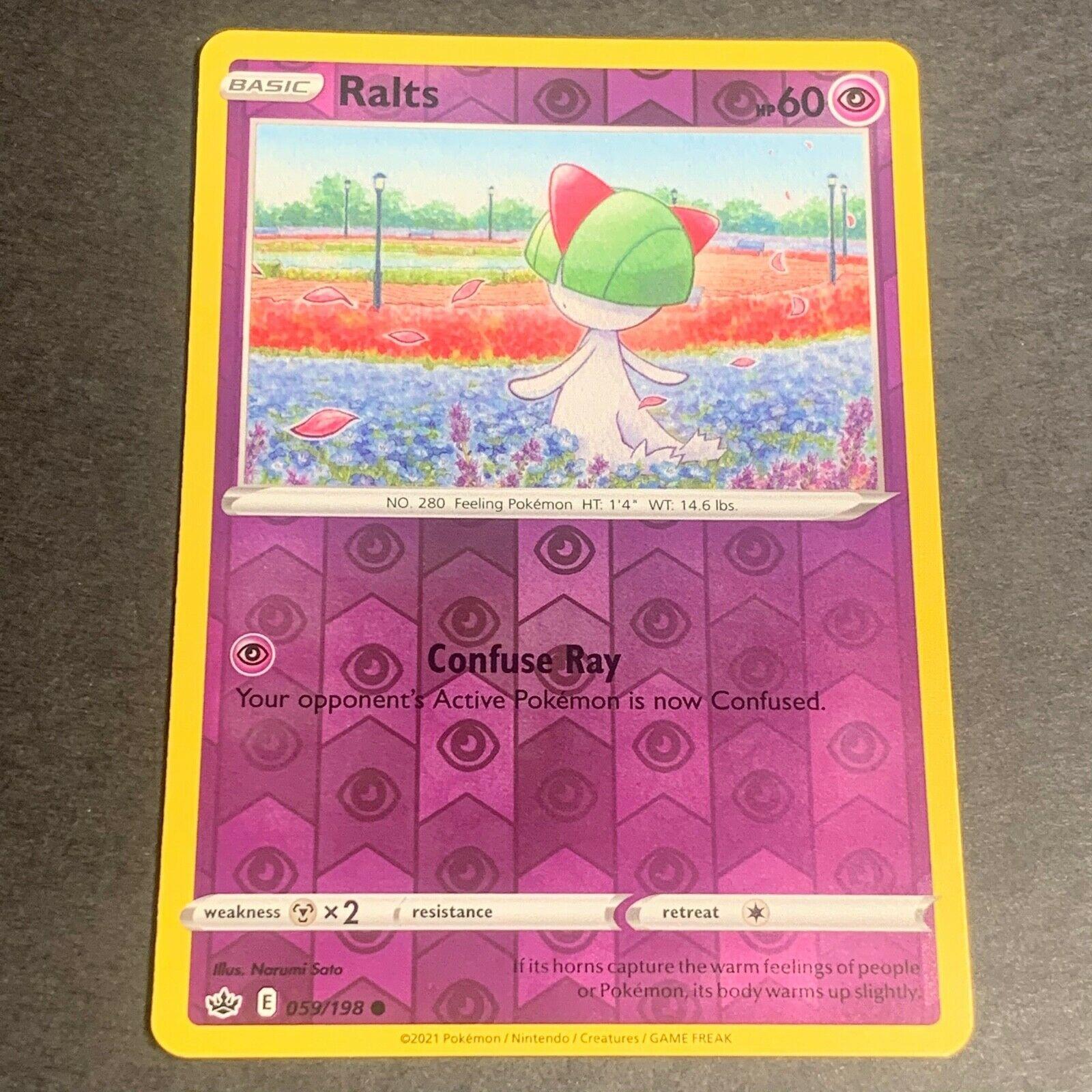 Pokemon S&S Chilling Reign Set REVERSE HOLO (C.) Ralts 059/198 - Near Mint (NM)