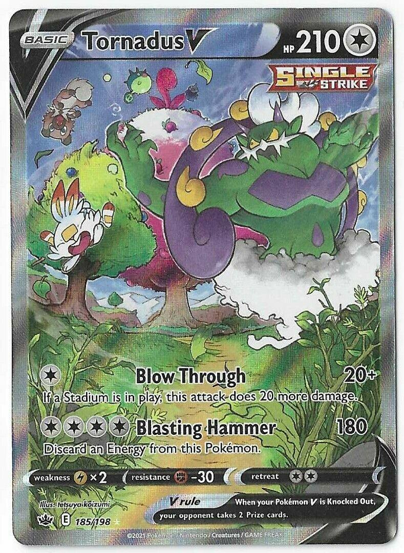 Pokemon Chilling Reign Tornadus V Alternative alt full art 185/198 Ultra Rare NM