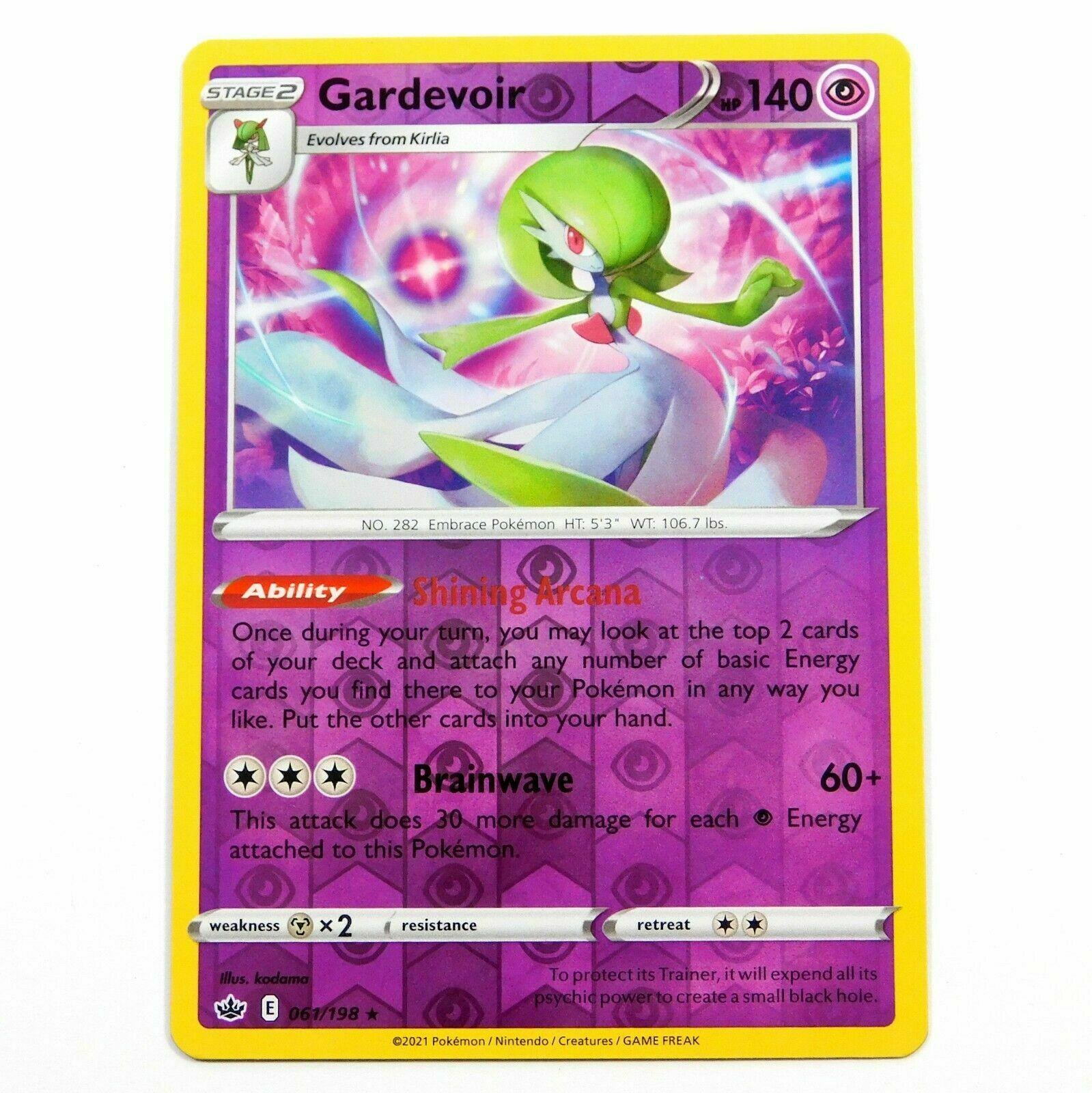 Pokemon - Gardevoir - 061/198 - Reverse Holo Rare - Chilling Reign - NM/M