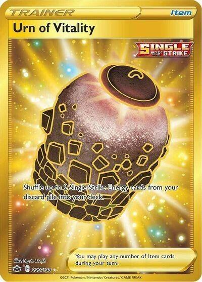 Pokemon : SWSH CHILLING REIGN Urn of Vitality 229/198 SECRET RARE