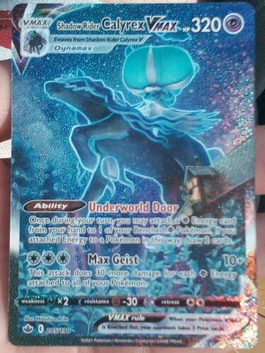 Pokemon - Chilling Reign Shadow Rider Calyrex VMax Alternate Art 205/198 - NM