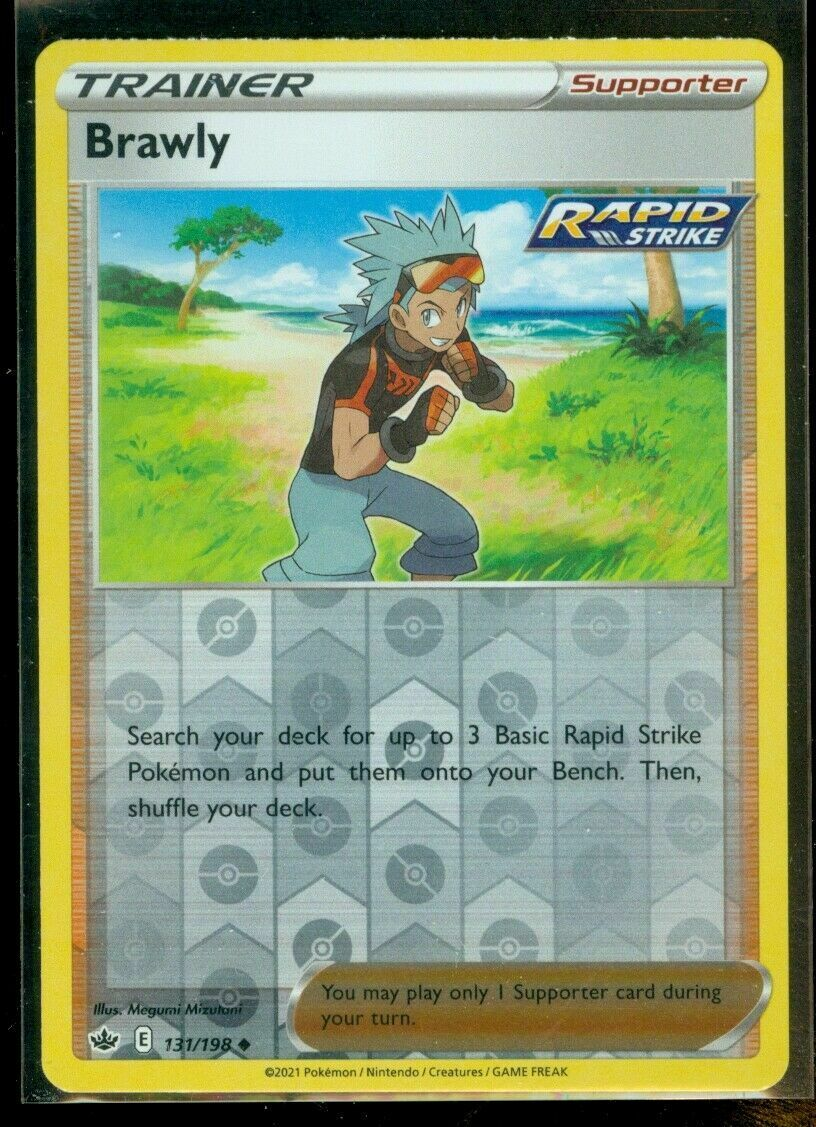Pokemon - BRAWLY 131/198 - Reverse Holo - Chilling Reign - NM/M