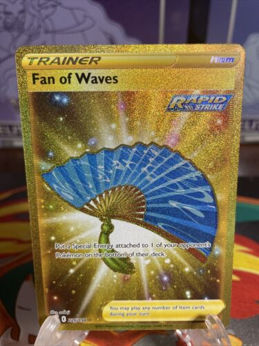 Pokemon Fan of Waves 226/198 Gold Secret Rare Chilling Reign FULL ART HOLO NM+