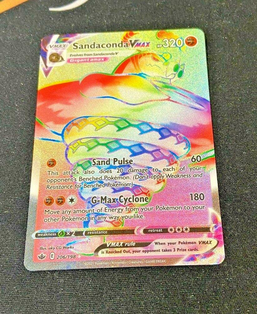 Sandaconda Vmax - 206/198 Chilling Reign (Pokemon) Secret Rainbow Rare
