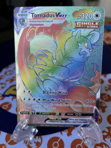 🌈Pokemon Tornadus VMAX Secret Rainbow Full Art Rare 209/198 Chilling Reign 🌈 - Image 1