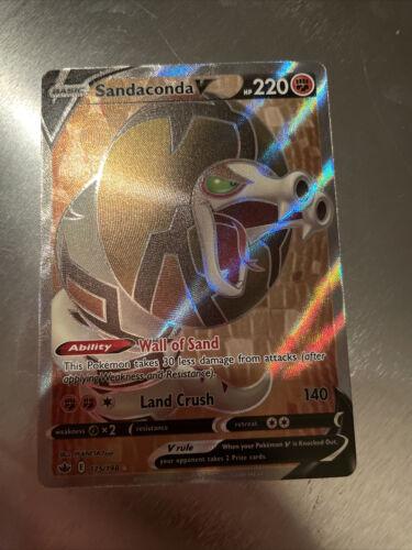 pokemon TCG Sandaconda V FULL ART 175/198 chilling reign ultra rare card trading