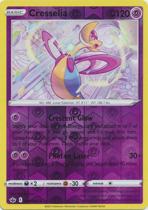 Pokemon Cresselia Reverse Holo Rare 064/198 Chilling Reign - NM