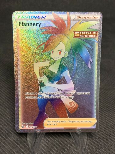 Pokémon TCG: Flannery 215/198 Chilling Reign Full Art Rainbow Pokémon Card