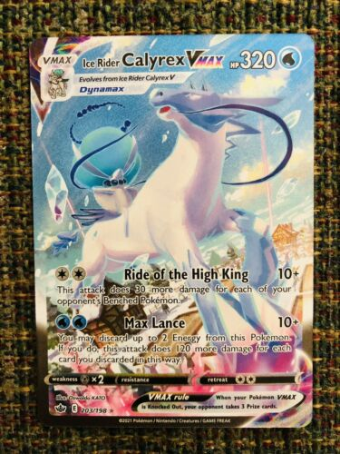 Ice Rider Calyrex Vmax - Secret Rare (Alternate Art). 203/198. Chilling Reign.