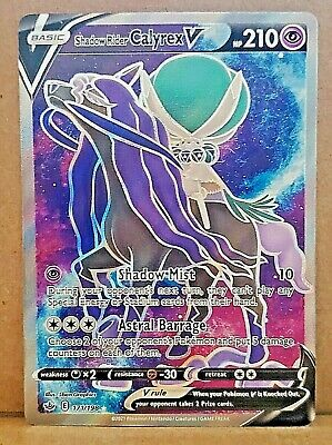 Shadow Rider Calyrex V 171/198 Full Art Chilling Reign Pokemon Card Mint