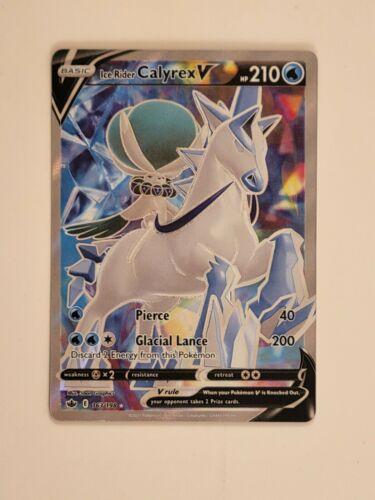 Ice Rider Calyrex V 163/198 Alternate Art Ultra Rare Pokemon Chilling Reign NM/M