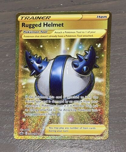 Rugged Helmet 228/198 - Golden Secret Rare Chilling Reign Pokémon - NM/Mint