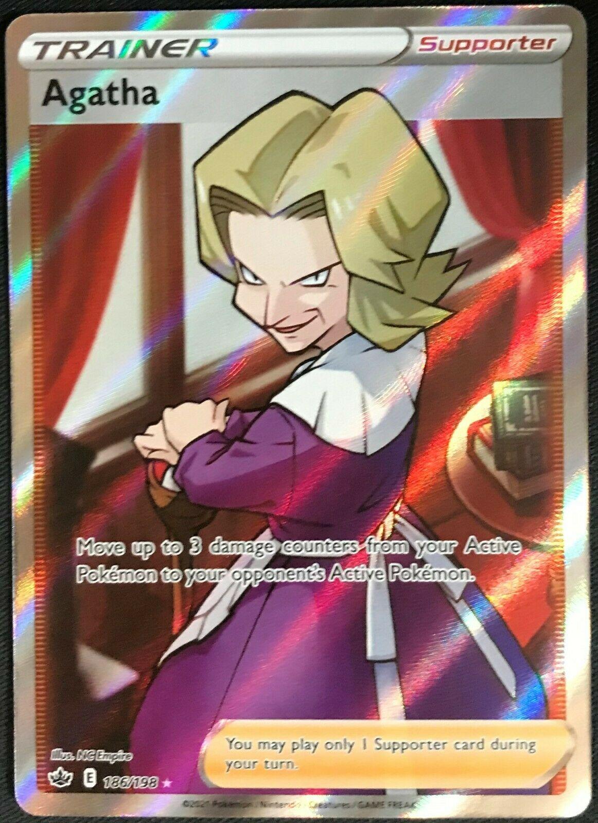 Pokemon Chilling Reign 186/198 Agatha Full Art