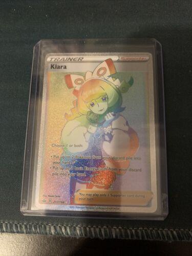Pokemon Chilling Reign Klara Rainbow 217/198 English In Hand Secret Rare