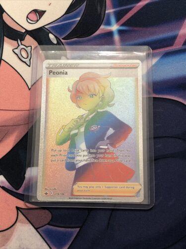 Peonia Full Art RAINBOW RARE 219/198 Chilling Reign🔥NM/MINT🔥PSA QUALITY