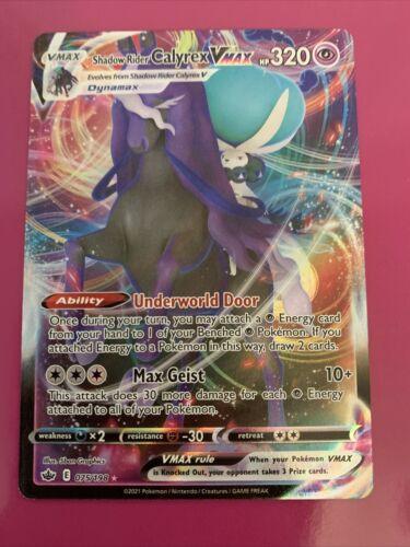 Shadow Rider Calyrex VMAX 075/198 Full Art NM/M Chilling Reign Pokemon Card