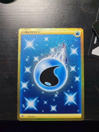 💥Pokemon Card Chilling Reign Secret Rare Water Energy Gold 231/198 NMT 🔥💧