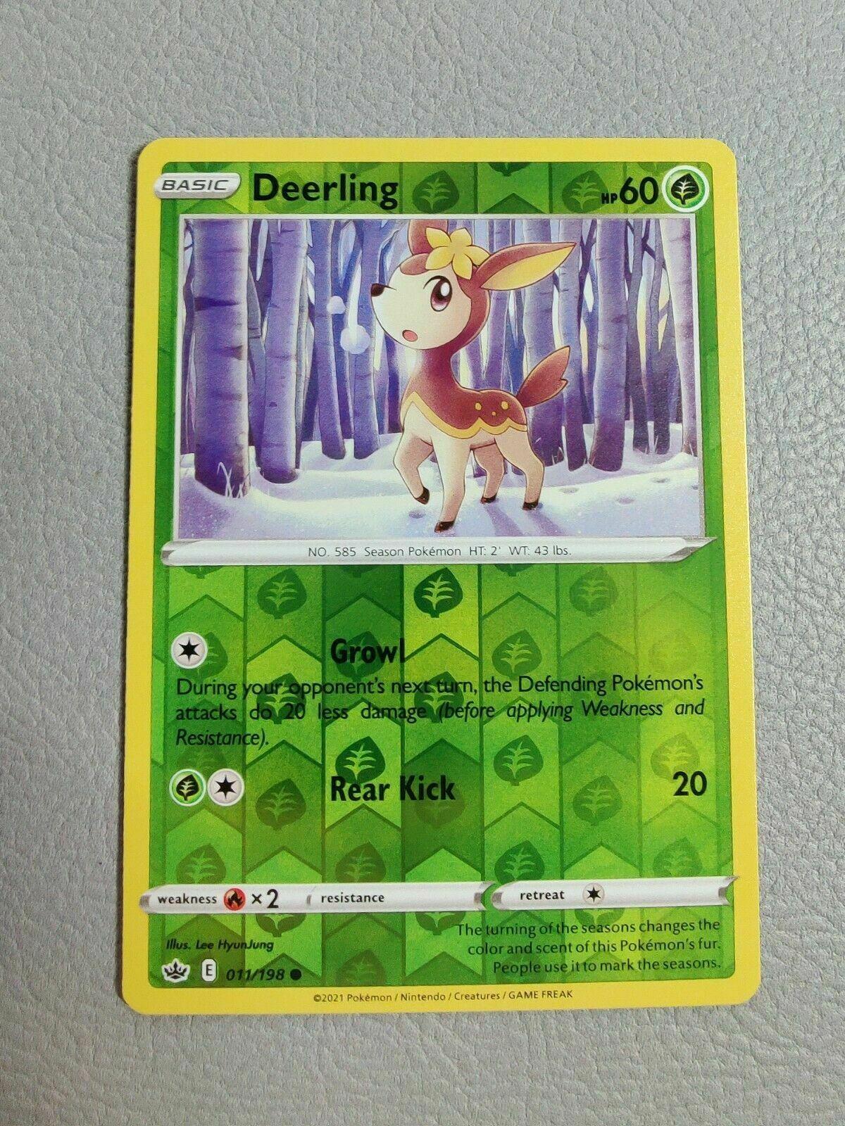 Deerling 011/198 Reverse Holo SWSH Chilling Reign Pokemon Card MINT