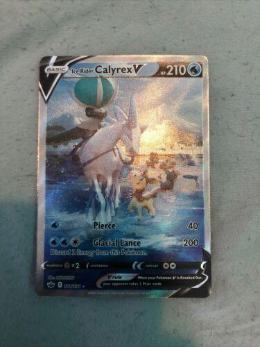 Pokemon - Ice Rider Calyrex V 164/198 Alternate Full Art - Chilling Reign - M/NM