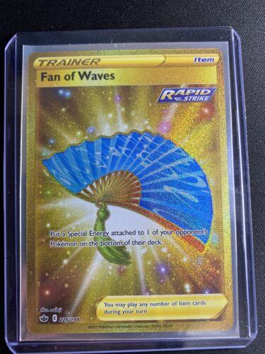 Pokemon - Fan of Waves Gold Secret/Ultra Rare 226/198 - Chilling Reign -